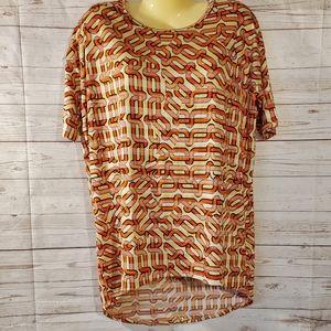LuLaRoe Orange Short Sleeve Top